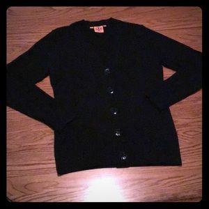 NWOT Tory Burch Merino Wool Black Cardigan Sweater